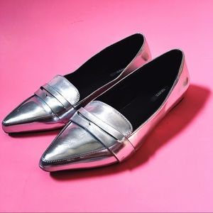 Silver Metallic Loafers
